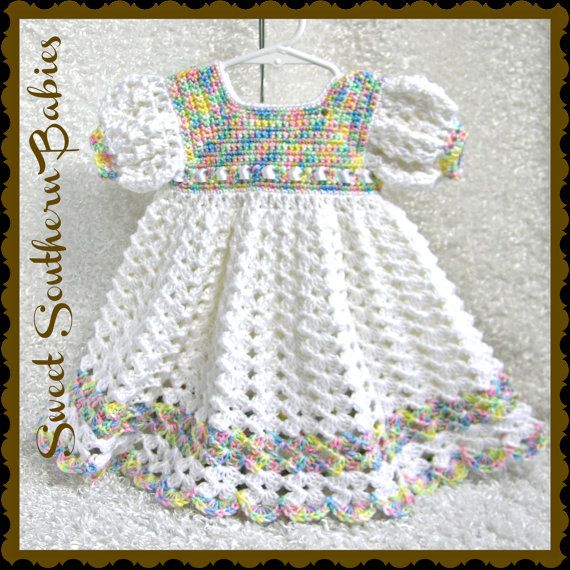 Baby Girl's White Dress  Baptism Wedding by SweetSouthernBabies