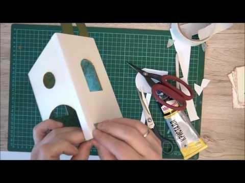 МК Чайный домик из картона под шпатлевку - YouTube