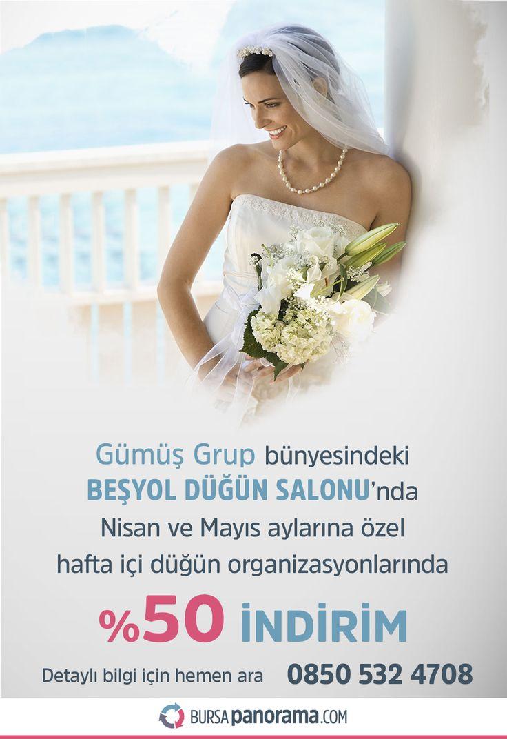 Beşyol Düğün Salonu | 0850 532 4708 Düğün, nişan, kına geceleri, özel gün ve geceleriniz de davet organizasyonları; mezuniyet baloları, doğum günü partileri ve benzer tüm organizasyonlarınıza ev sahipliği yapmak için sizlerleyiz. Sizler için özel hazırlanmış kampanyalar için hemen irtibata geçebilirsiniz. https://www.bursapanorama.com/bursa/besyol-dugun-salonu/ #beşyoldüğünsalonu #bursa #düğün #bursadüğün #düğünsalonları