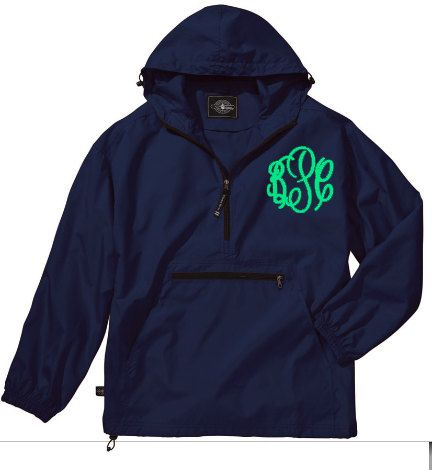 Monogrammed Pull Over Rain Jacket Charles by monogrammadness12