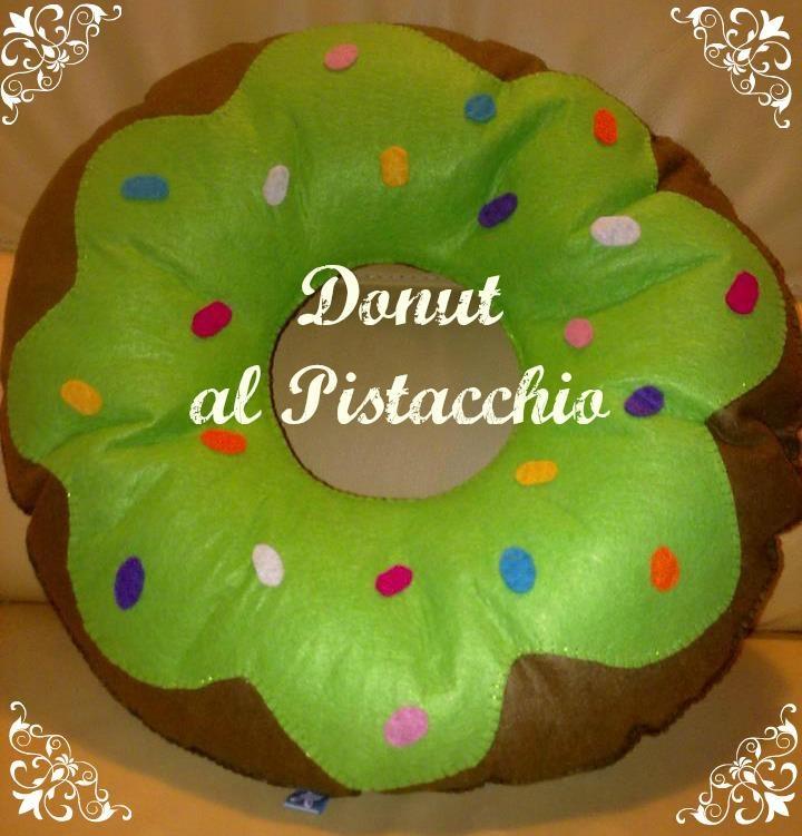 cuscino pistacchio donut
