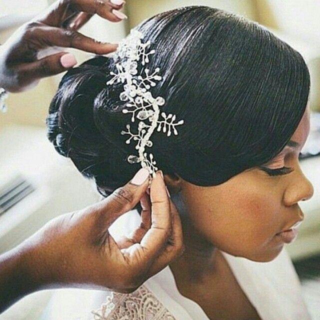 Bridal hairstyles for dark hair : Best 25 Afro wedding hair ideas on Pinterest Natural