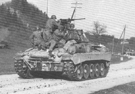 M24 Chaffee light tank. The M24 Chaffee light tank arrived late in World War II to replace the Stuart light tank. The tank had improved suspension and a larger 75mm gun that was much appreciated by the tank crews.