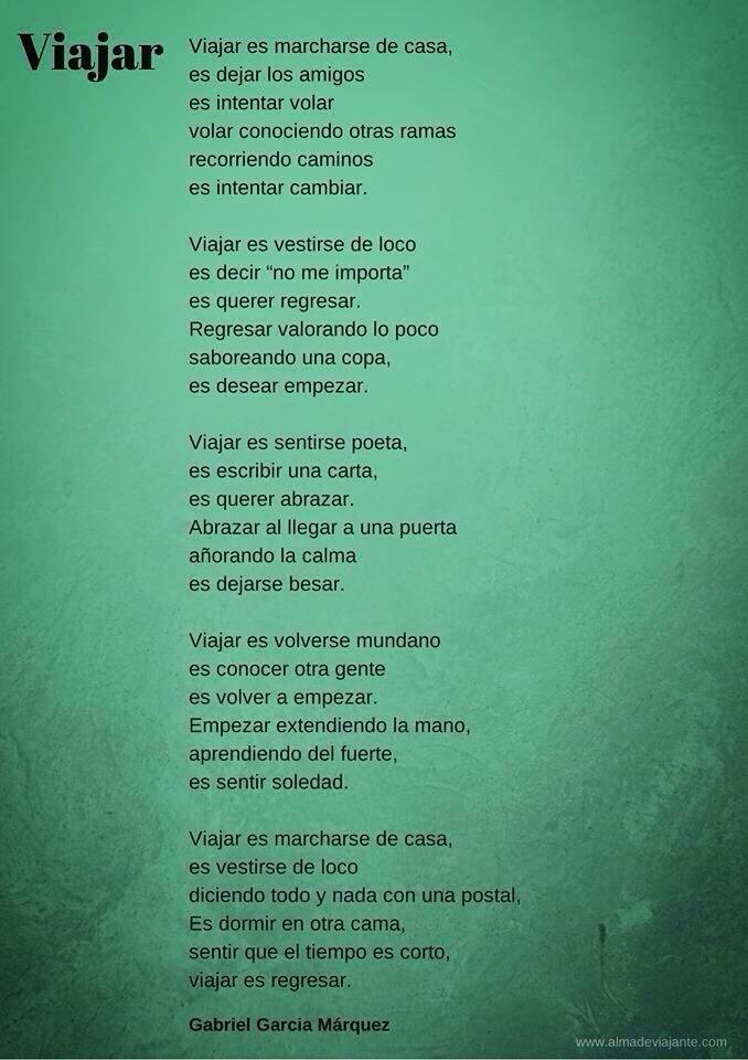 VIAJAR (Gabriel Garcia Márquez)