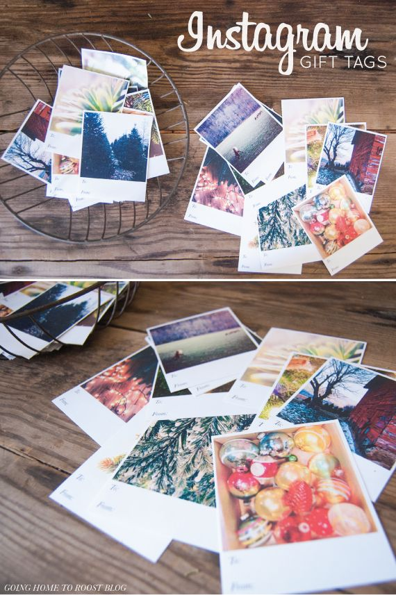 printable instagram gift tags + template