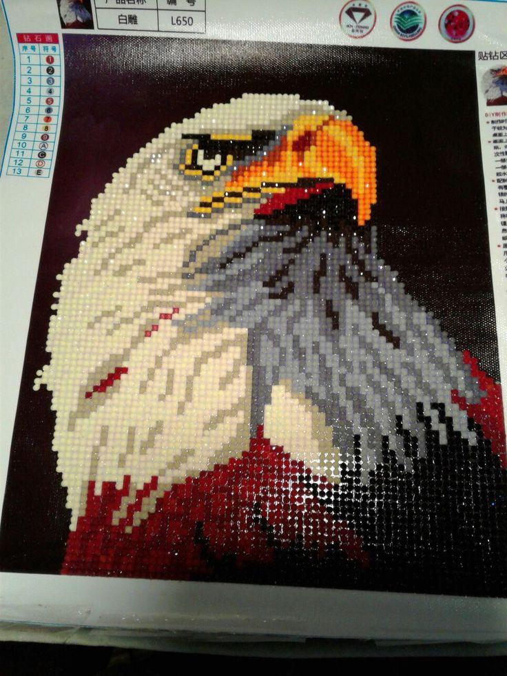 Eagle diamond painting