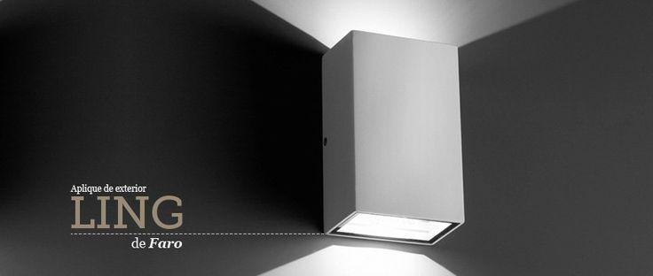 Aplique de pared Ling Led de Faro Barcelona ideal para iluminar tus zonas exteriores. Aplique de exterior. #aplique #wallLamp #Faro #lamps #iluminacion #iluminaiconExterior #lights #luces