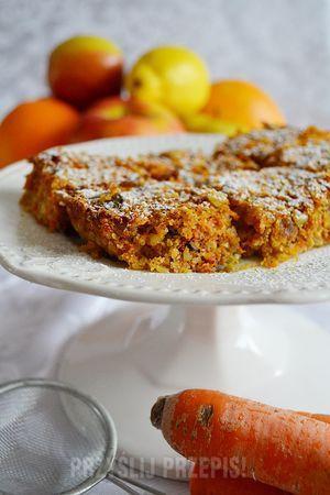 Ciasto z marchewką bez mąki, cukru, jajek i mleka