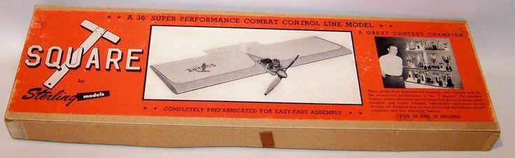 Vintage Sterling  U0026quot T U0026quot  Square Control Line  U0026quot Combat U0026quot  Model