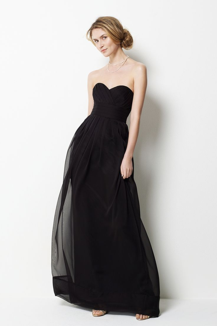 Sweetheart neck with empire waist floor-length chiffon gown! OMG. These are the bridesmaid dresses. YES! YES!