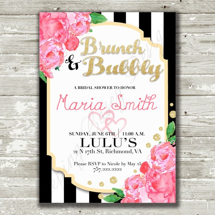 149 best bridal shower invitations images on pinterest | bridal, Birthday invitations