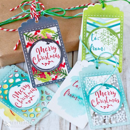 Christmas Tags by Betsy Veldman for Papertrey Ink (September 2017)