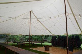 Tent Lighting Option #1 - Smaller Tent in Photo