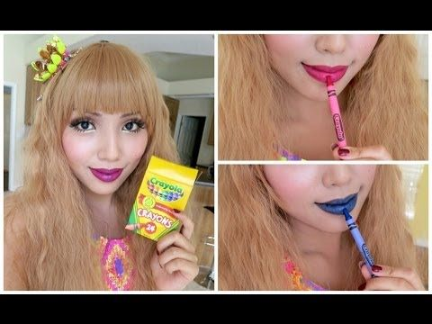 How to make Lipstick with Crayons !!! - YouTube