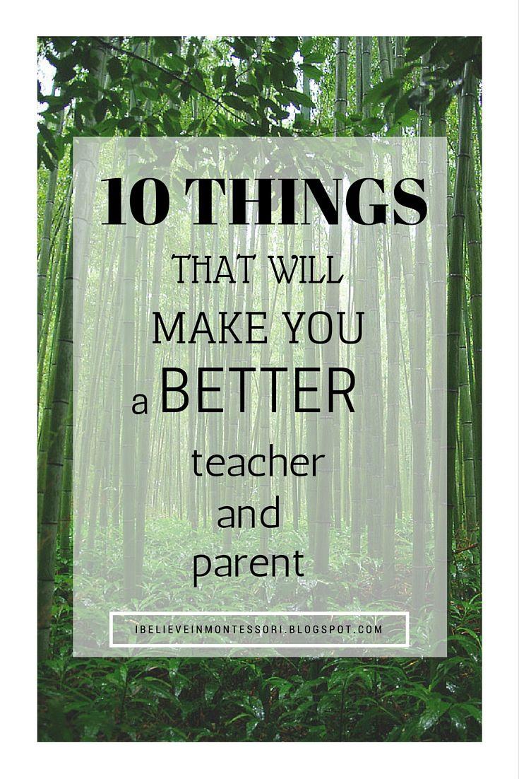10 things that will make you a better teacher, parent and person. Spiritual development of the teacher