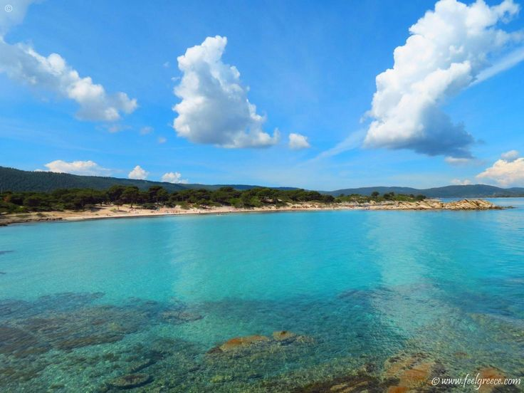 Karidi, the most famous beach in the area of Vourvourou - Sithonia