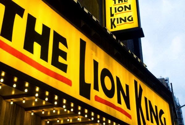 The Lion King, Broadway, New York.