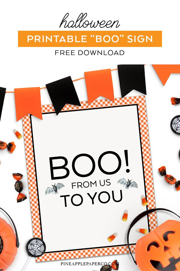 picture regarding Printable Halloween Decorations identify No cost Halloween Printables - Youve Been Booed Pineapple