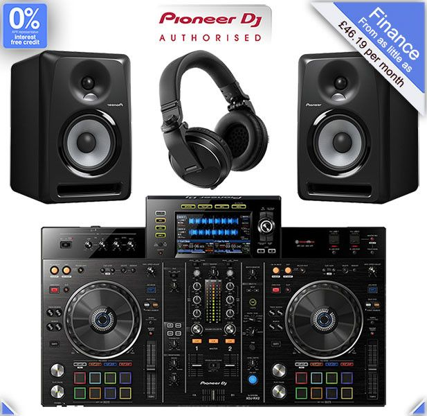This Pioneer DJ Equipment Package includes an XDJ-RX2 RekordBox DJ Controller, a pair of S-DJ80X speakers and a pair of HDJ-X5 headphones which can be upgraded if required. The XDJ-RX2 controller comes bundled with a free license key for RekordBox DJ, Pioneer's professional DJ performance application and music management software.