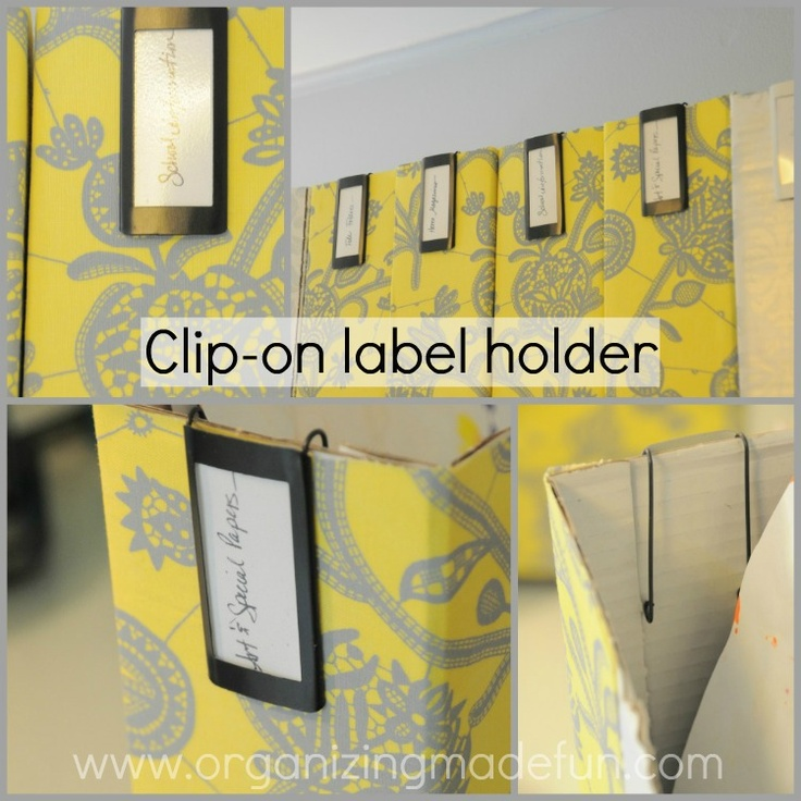 Organizing Made Fun: OMF Headquarters: the organizingLabels Bins, Offices Spaces, Organic Ideas, Ideas Fun, Fun Motivation, Clips On Labels, Clipon Labels, Omf Headquarters, Labels Holders