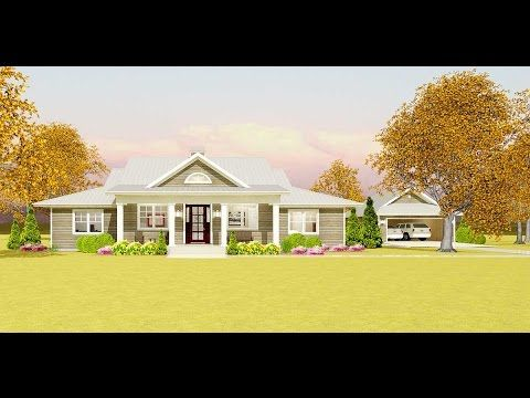Plan 28911jj Flexible Country Plan With Detached Garage Simple Farmhouse Plans Ranch Style House Plans Garage House Plans