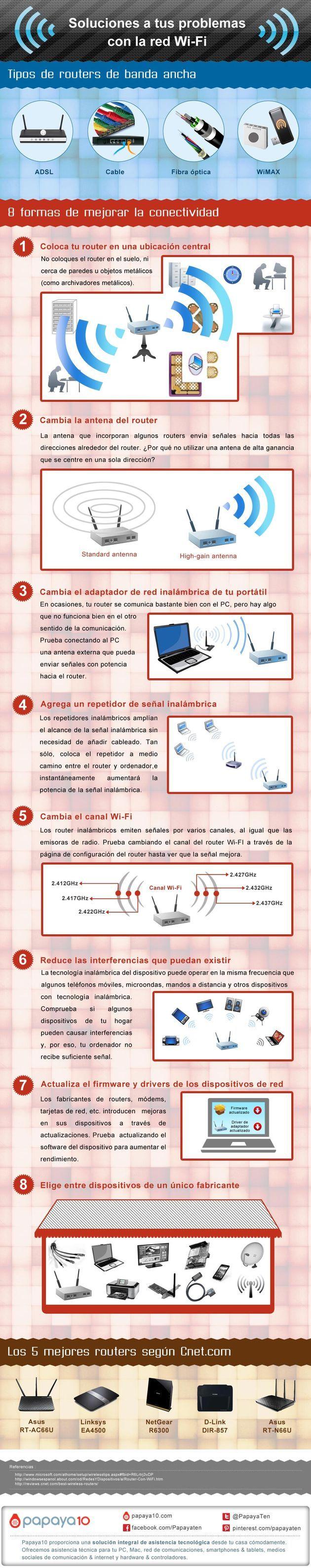 8 Consejos para mejorar la conexión #WiFi http://www.maestrodelacomputacion.net/consejos-para-mejorar-la-conexion-wifi/
