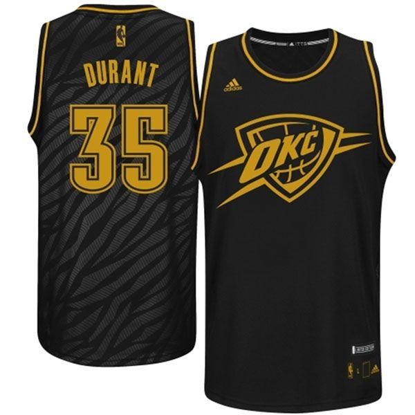 509e476d6 ... Buy Kevin Durant Oklahoma City Thunder Precious Metals Fashion Swingman  Limited Edition Black Jersey Cheap To ...