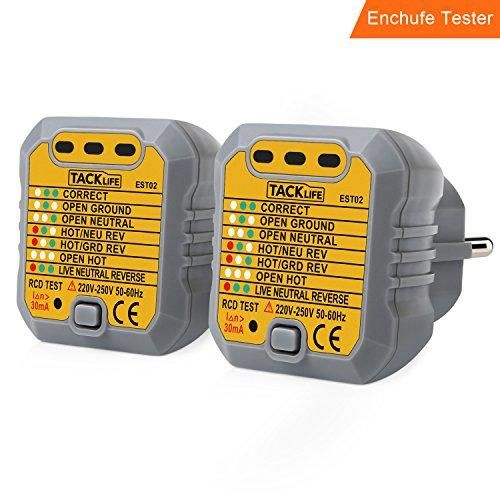 Oferta: 11.99€ Dto: -60%. Comprar Ofertas de Tacklife EST02-2 avanzado comprobador de enchufes, testeador del cableado eléctrico, probador del zócalo de corriente para ci barato. ¡Mira las ofertas!