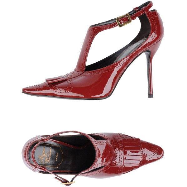 Roger Vivier Pump ($580) ❤ liked on Polyvore featuring shoes, pumps, maroon, roger vivier pumps, leather footwear, real leather shoes, leather pumps and maroon pumps