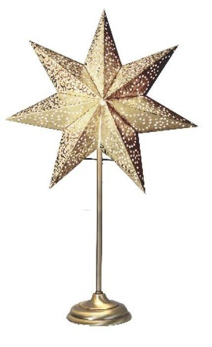 Anno 1909 by Vilma - Advents stjärna på fot Antik guld