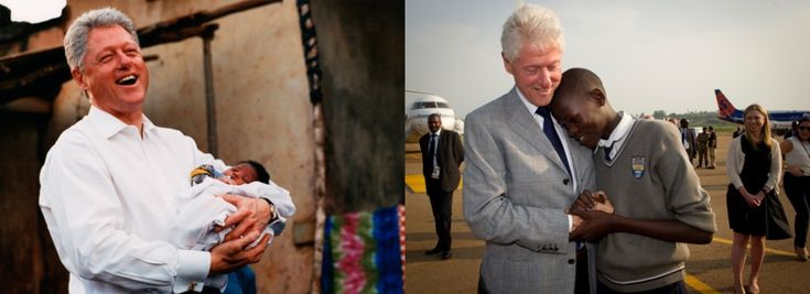 President Clinton reunites with 14-year-old Bill Clinton, who was named after the president during his visit to Uganda. (via Reddit!)