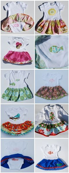 2 Giggle Boxes: The Skirted Onesie: A Tutorial