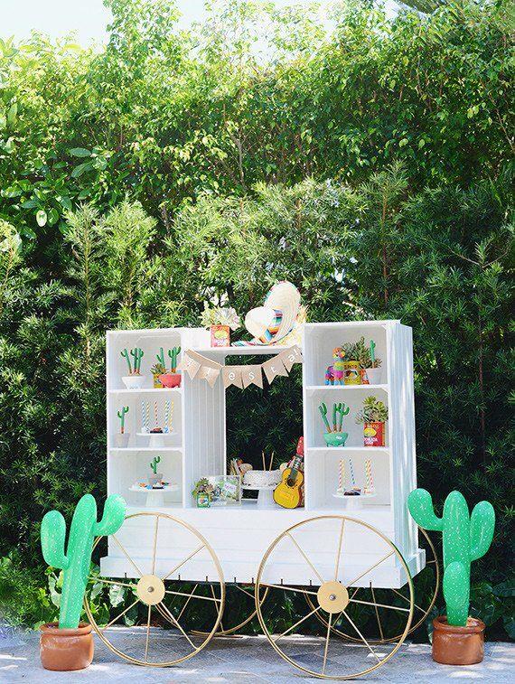 fiesta mexicana al aire libre infantil