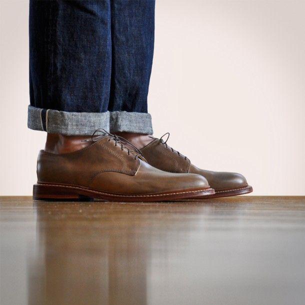 Oak Street Bootmakers   Natural Plain Toe Blucher