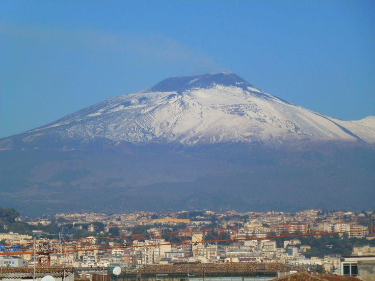 Etna from Chiesa della Badia di Sant'Agata, Catania:
