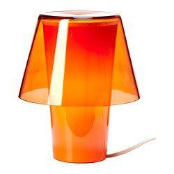 GAVIK Lampada da tavolo, arancione, vetro smerigliato €9,99