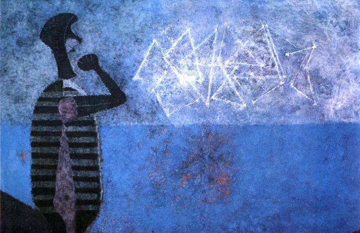 """LA POTENZA DEI COLORI VIVACI E DEI MODELLI SIMBOLICI RUFINO TAMAYO 1/4 – La sua pittura passò dal realismo all'espressionismo, fino ad arrivare all'astrattismo. """"America"""", un suo capolavoro, è stato il momento clou di un'asta di una serata d'arte latino-americana a Sotheby's nel novembre 2008. Quell'opera è un vinile e sabbia su tela murale, ed ..."""