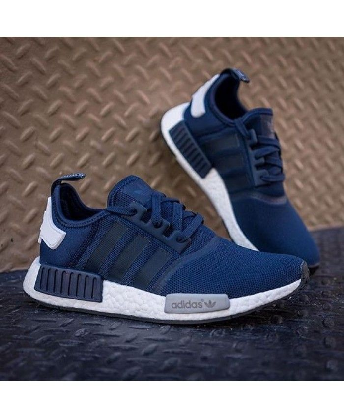 Adidas Nmd R1 Blue White Trainers Addidas Shoes Adidas Shoes Women Sneakers