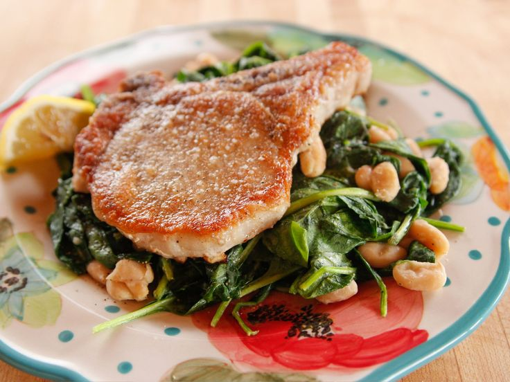 Lighter Fried Pork Chop recipe from Ree Drummond via Food Network