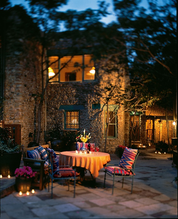 "Relais & Chateaux - In the historic district of Santa Fe, with its ""Pueblo"" charm, this beautiful property is a collection of adobe buildings with mud walls, colourful textiles and artisan designed, mosaic tiled bathrooms. The Inn of the Five Graces - USA  #relaischateaux #america"