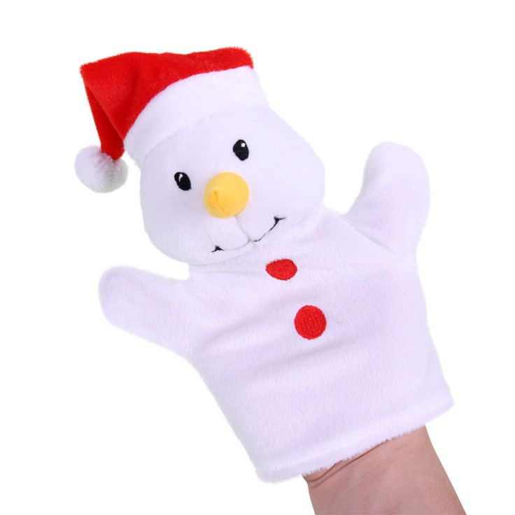 Кукла-марионетка, надеваемая на руку снеговик перчатка кукольный плюш медведь пальчиковая кукла игрушка вручную куклы для детей история игрушка fantoches де dedo 1 шт.