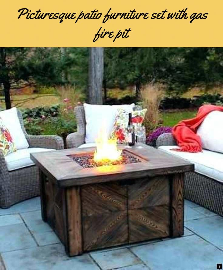 find more information on patio furniture set with gas fire pit rh pinterest com