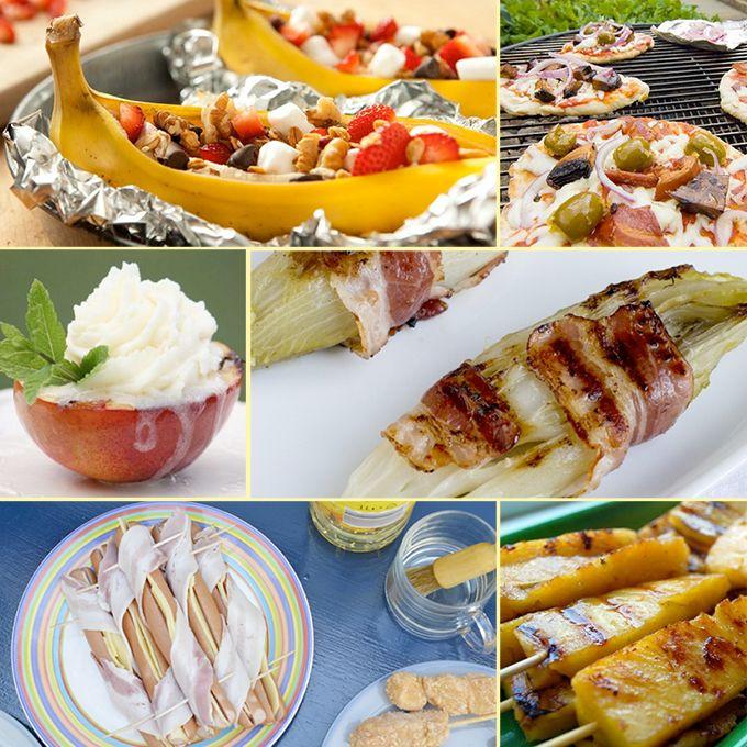 <p>Komende week is het uitstekend weer om de barbecue aan te steken. Wil je echter wel eens wat anders dan speklapjes, hamburgers en kippenpootjes? Wat dacht je bijvoorbeeld van gegrilde banaan, pizza of gevulde portobello's met roomkaas? Dat wordt binnenkort genieten!</p>