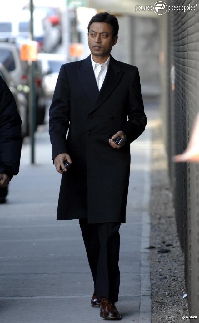 "Irrfan Khan: dude he is WEARING this outfit.. looks like he belongs in ""The Matrix."""