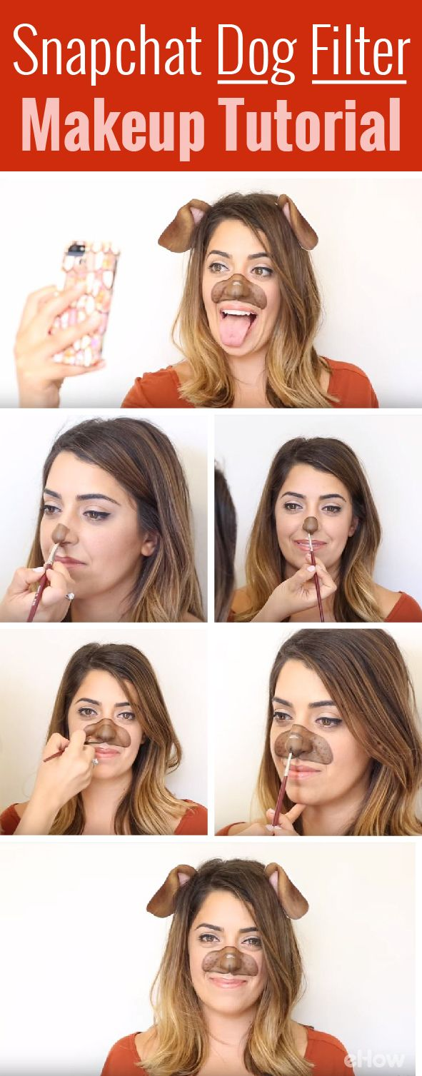 Don't just be a regular cat for Halloween this year when you can definitely be the lovable, adorable dog that everyone knows from Snapchat! Full DIY tutorial on how to become this famous filter in real life using makeup: http://www.ehow.com/how_12343425_4-snapchat-filter-makeup-tutorials-need-watch.html?utm_source=pinterest.com&utm_medium=referral&utm_content=freestyle&utm_campaign=fanpage