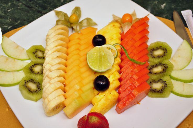 Display de frutas.