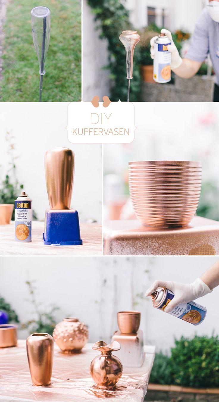 DIY-Kupfervasen von VergissMeinNicht Fotografie | Sarina Kullmann – Hochzeitswah…