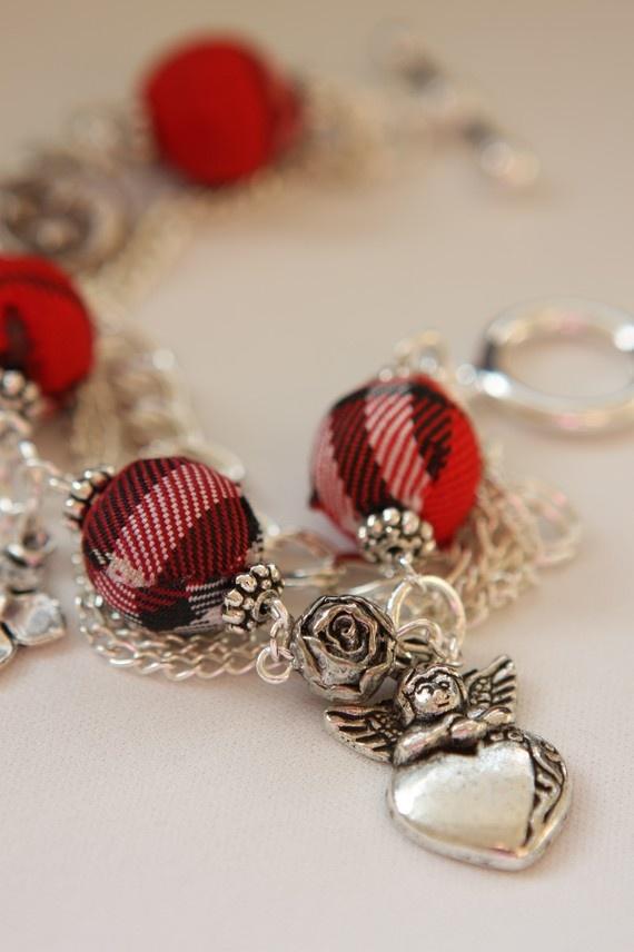 Inspirational jewelry in plaid