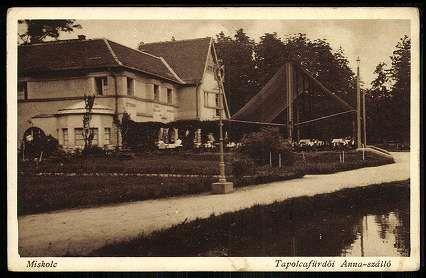 Miskolc Tapolcafürdői Anna szálló | Képeslapok | Hungaricana