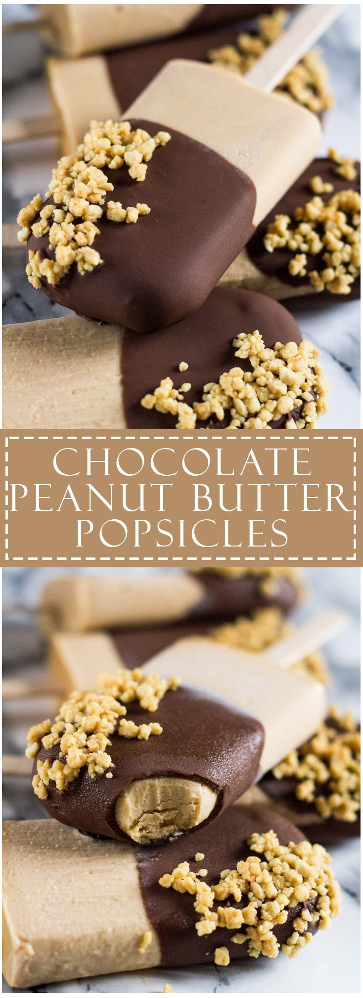 Chocolate Peanut Butter Yoghurt Popsicles | (veganise it) marshasbakingaddiction.com…